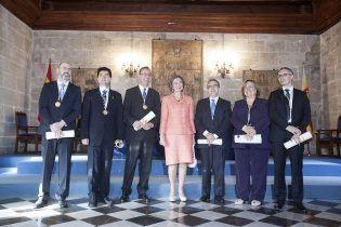 Dª Sofía con los Premiados en 2014