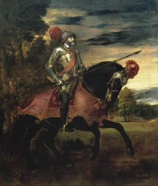 Carlos V en Mühlberg, Tiziano (1548)