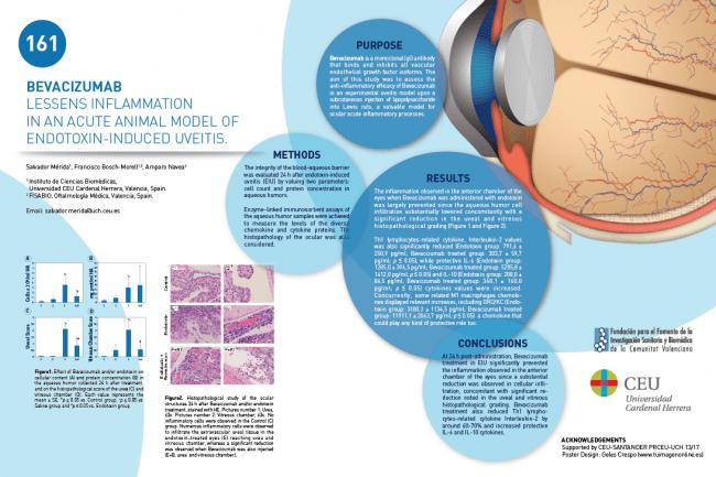 Poster presentado por grupo de FIsiologia del CEU y FISABIO-Oftalmología