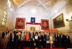 Imagen tomada antes de la última jornada de deliberaciones de los jurados de los Premios Rey Jaime I en 2011