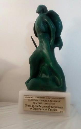 Premio al Mérito Científico. Asociación Cultural Gregal