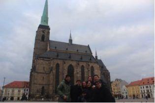 Plzen's town square
