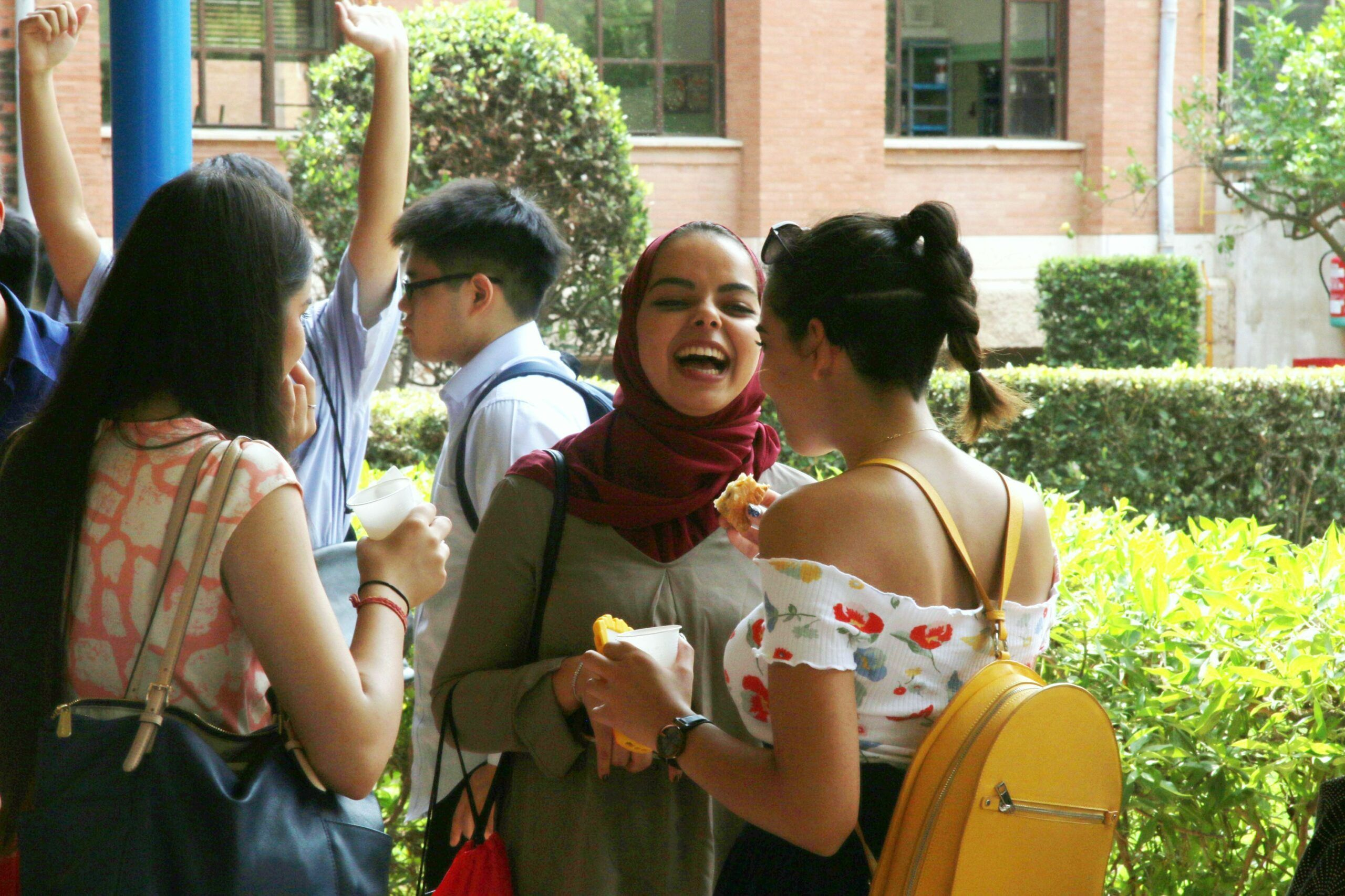 Kenza and some of her classmates, during our last Welcome Day for international students