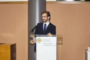 Isidoro Gómez Villalvilla durante su discurso