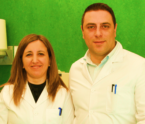 Dr. Salvatore Sauro and Dr. Arlinda Luzi in CEU Cardenal Herrera University Dental Clínic