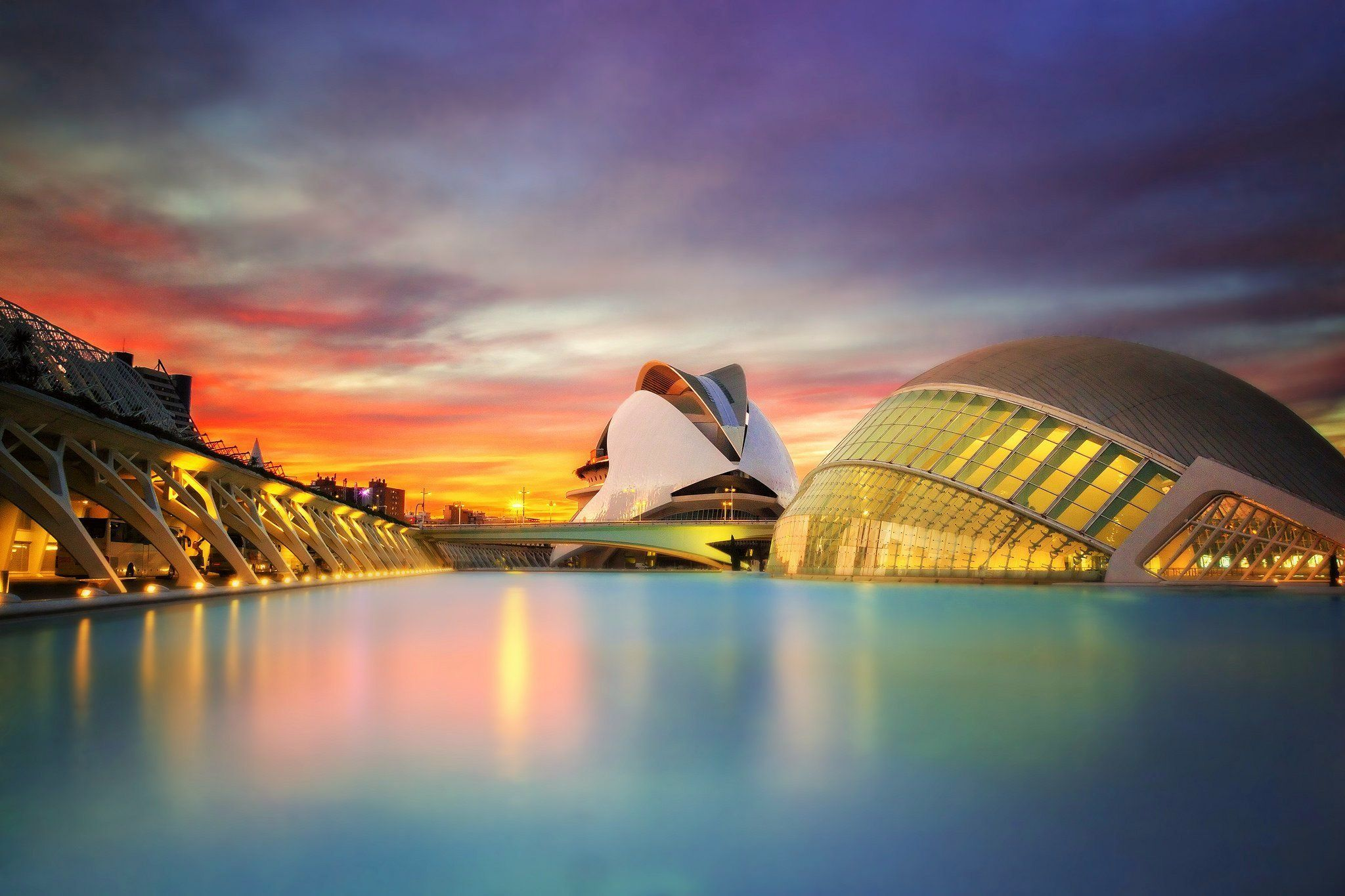 Valencia at sunset
