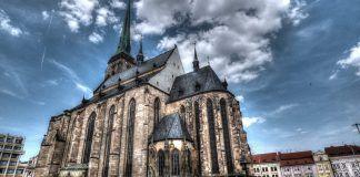 Church in central Plzen
