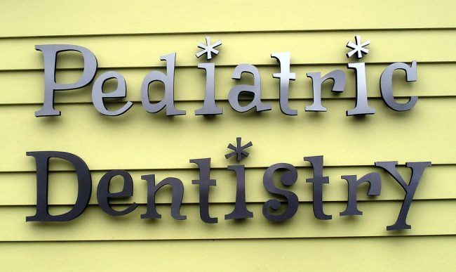 Yellos pediatric dentistry signboard