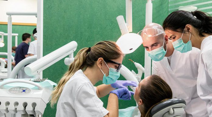 UCHCEU Dentistry students in the dental clinic