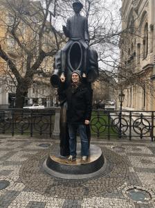 Statue in square in plsen