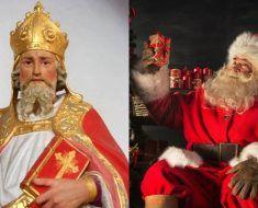 San Nicolás y la imagen de Papá Noel que ha llegado a nuestros días.
