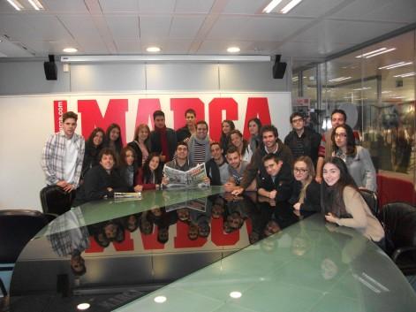 """El """"tour"""" incluyó la sede de El Mundo y Marca"""