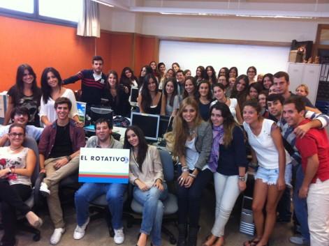 Parte del equipo de El Rotativo 2012-2013
