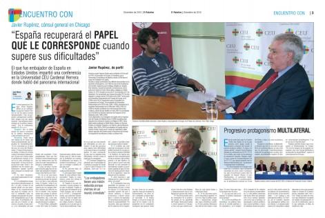 El alumno José María Nieto entrevista al embajador Javier Rupérez