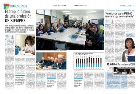 Reportaje sobre la profesión de farmacia y sus estudios en el CEU-UCH