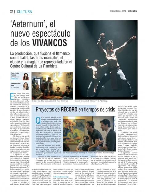 Reportaje sobre Los Vivancos con fotografías del alumno Pablo Ortega