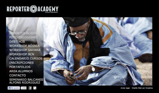 Web de Reporter Academy