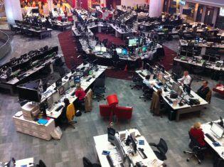 BBC newsroom.