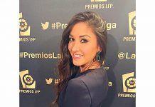 Celia Sanchis en la gala de la LFP.
