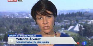 Yolanda Álvarez, el relato informativo diario de lo que ocurre en Oriente Medio y sus porqués.