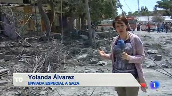 Yolanda Álvarez, el relato informativo de lo que ocurre en Gaza y sus porqués.