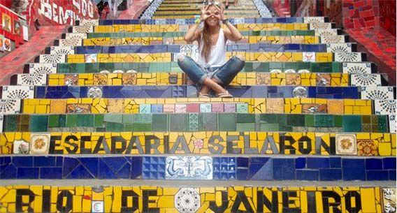 Río de Janeiro - Conocidas escaleras Selarón en la ciudad carioca