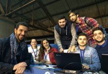 Los alumnos, con el profesor Fernando Álvarez