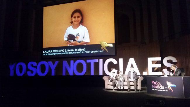 Ximo Puig, con Laura Crespo y su madre y Pedro Morata