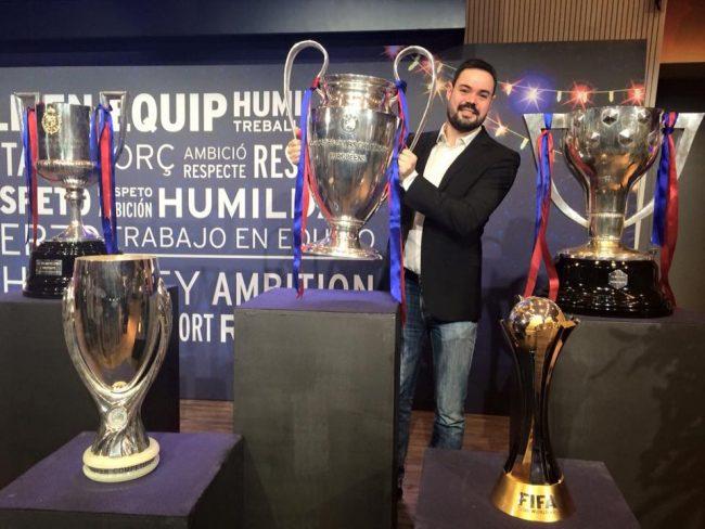Andrés aceptó al instante la propuesta para mudarse a Barcelona y cubrir la información del Barça.