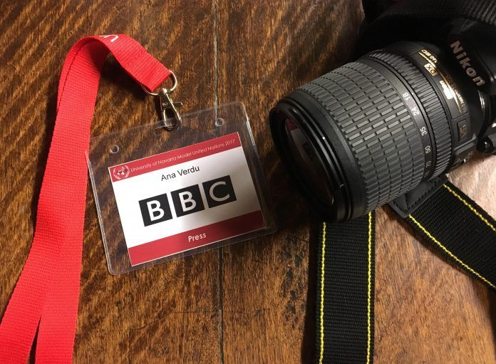 Me tocó trabajar en el Comité de Prensa. Yo jugaría el rol de la BBC.