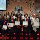 Los mejores delegados del Modelo de Naciones Unidas de la Universidad de Navarra 2017.