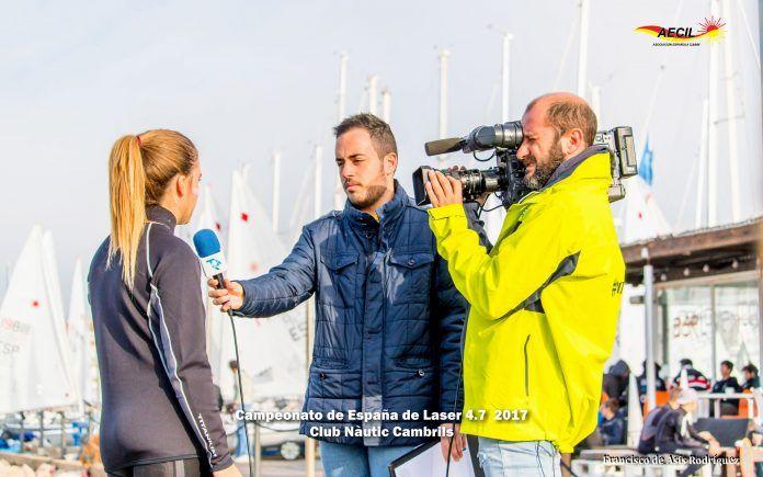 El alumno de Periodismo de la CEU UCH ha cubierto el Campeonato de España Láser 4.7