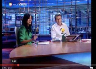 Ananda Rubio presentó junto a Sánchez Dragó en Telemadrid.