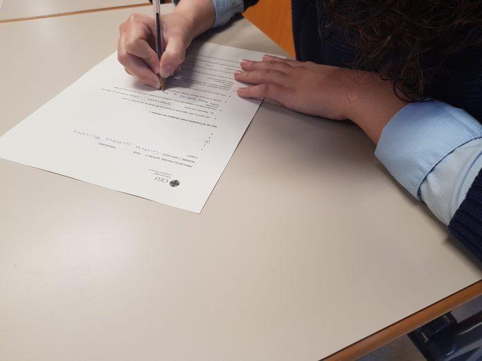 Examen de actualidad para las prácticas en Antena 3.
