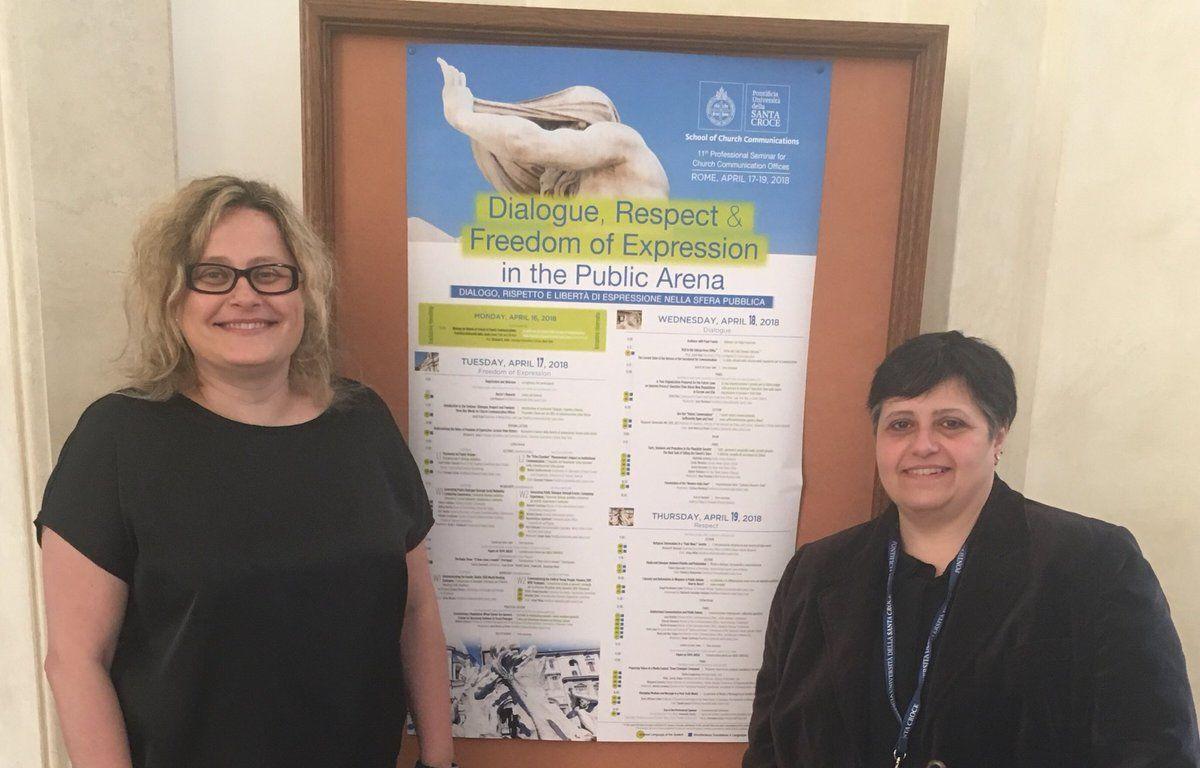 Las profesoras Mª José Pou y Maite Mercado asisten al ChurchCom18 en Roma