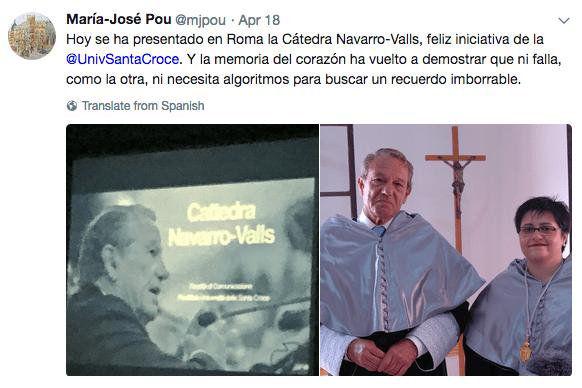 Presentación de la Cátedra de Navarro Valls