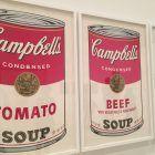 Las famosas latas de sopa Campbell de Andy Warhol