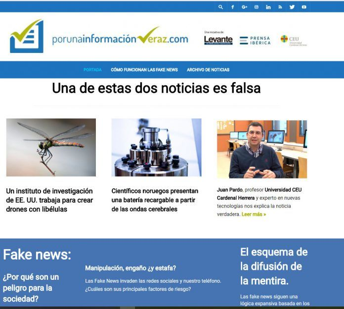 """El portal """"Por una información veraz"""" ofrece claves para no creer las fake news."""