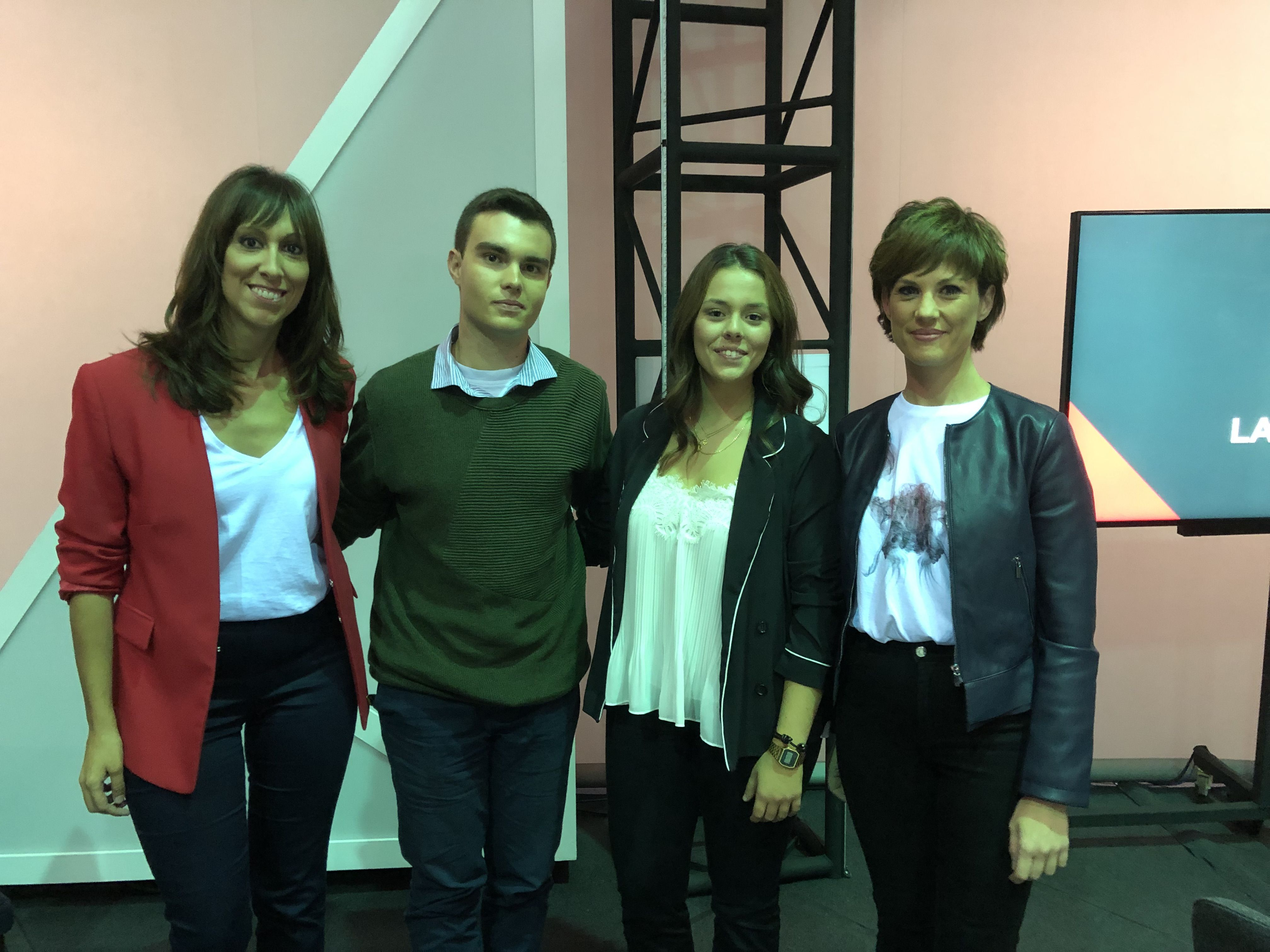 En La Qüestió, con Jèssica Crespo y Adelaida Ferre.