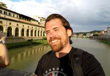 José Parra es su viaje a Florencia.