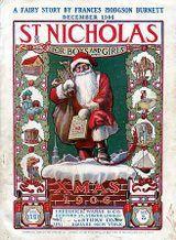 Papá Noel vestido de rojo en 1906