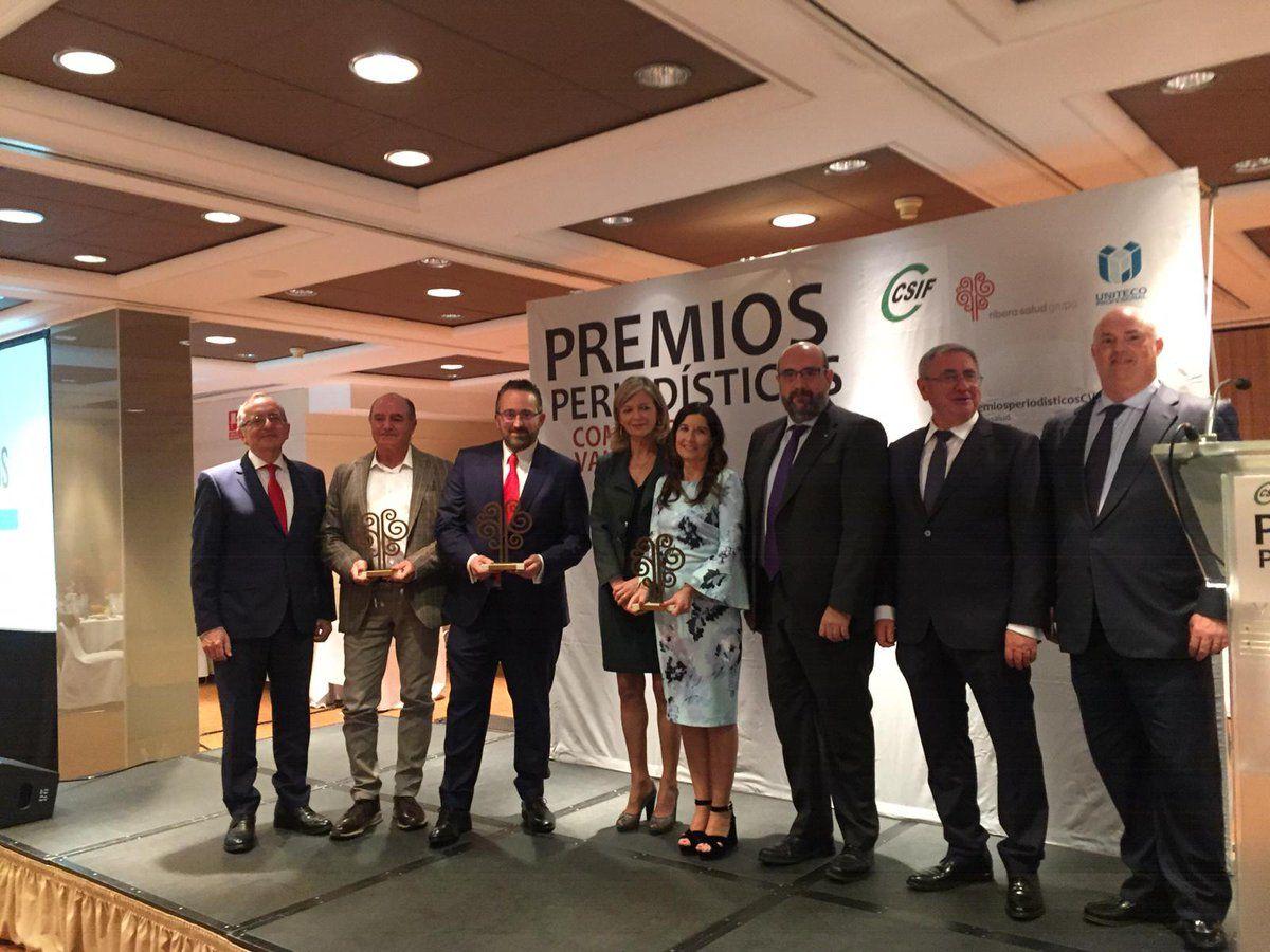 José Fores, Elvira Graullera y Pablo Ferri, galardonados en los Premios Periodísticos de la Comunidad Valenciana.