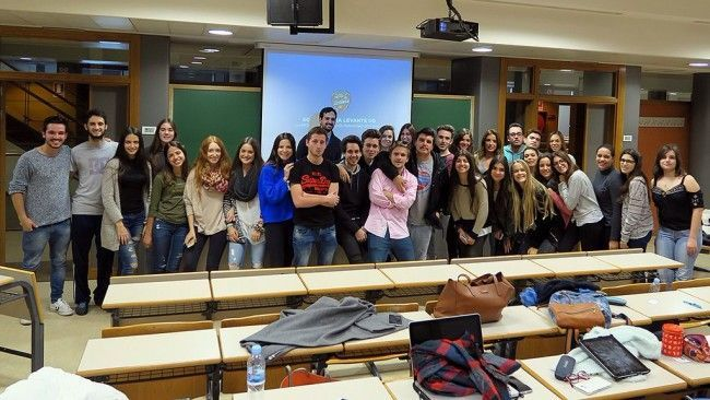 The students of the degree have enjoyed the classes!
