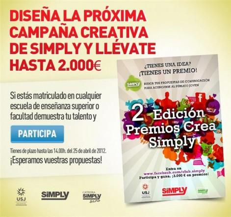 cartel Diseña la próxima Campaña creativa de Simply