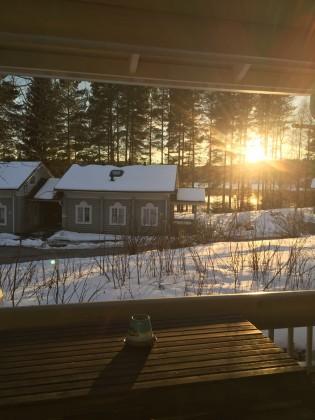 Puesta de sol en Lomasaari, Virrat, Finlandia,