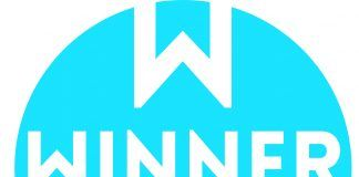 Logotipo winner azul