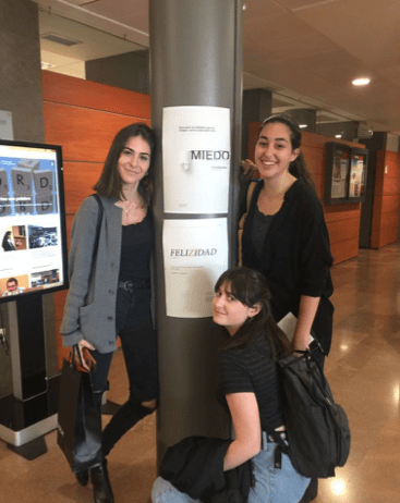 Sara Chaparro, Isabel Rodríguez y Laura Gay. 1º Publicidad y RRPP