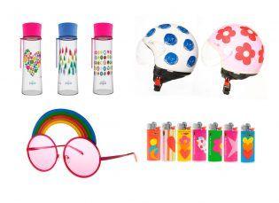 Algunos de los diversos productos que se pueden encontrar con los diseños de Ágatha Ruíz de la Prada