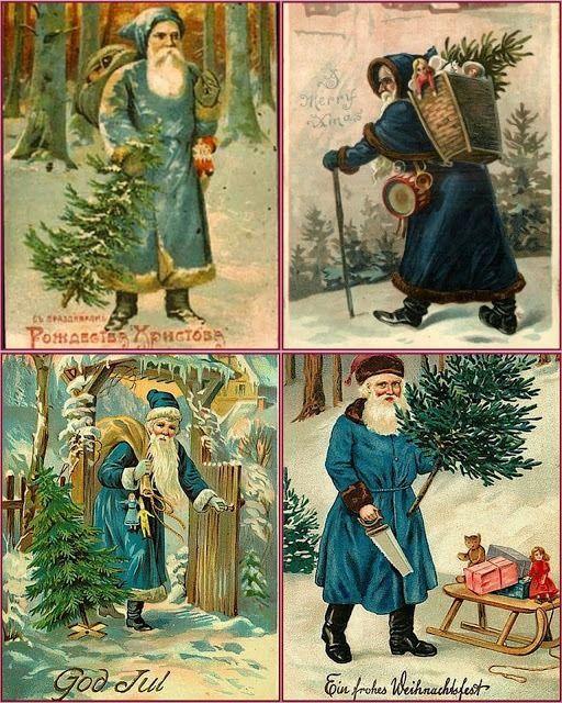 Papá Noel vestido de verde