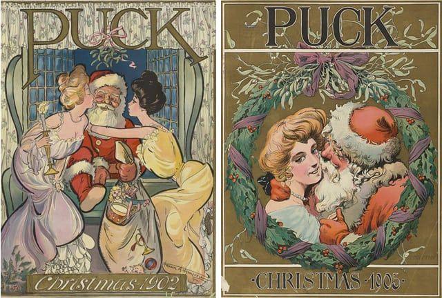 Papá Noel, de rojo, en 1902